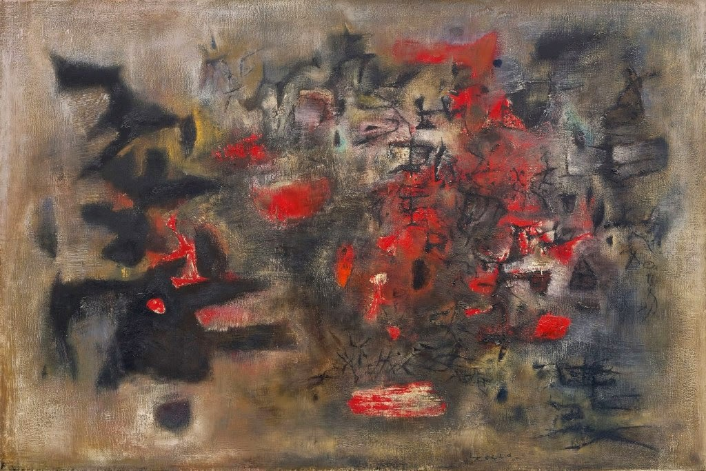 Zao Wou-Ki Debut d′Octobre (Beginning of October) 1955