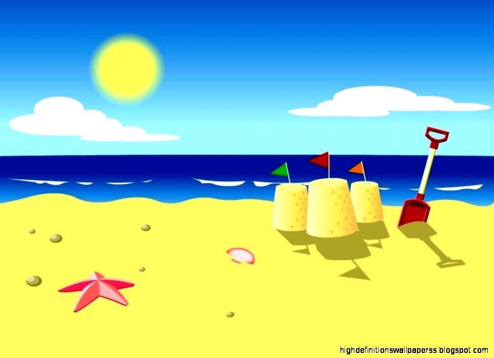 Beach Images Cartoon Hd Wallpaper Desktop High