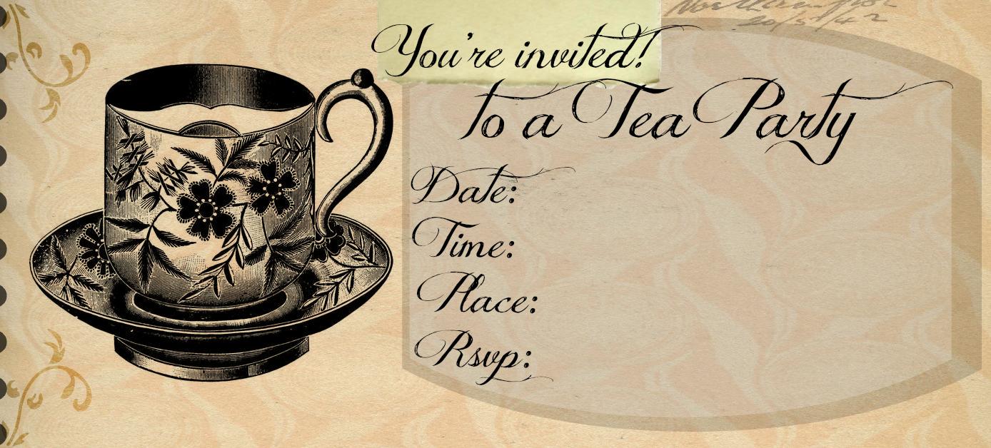 High tea invitation template outlawhome tea party invitation template stopboris Gallery