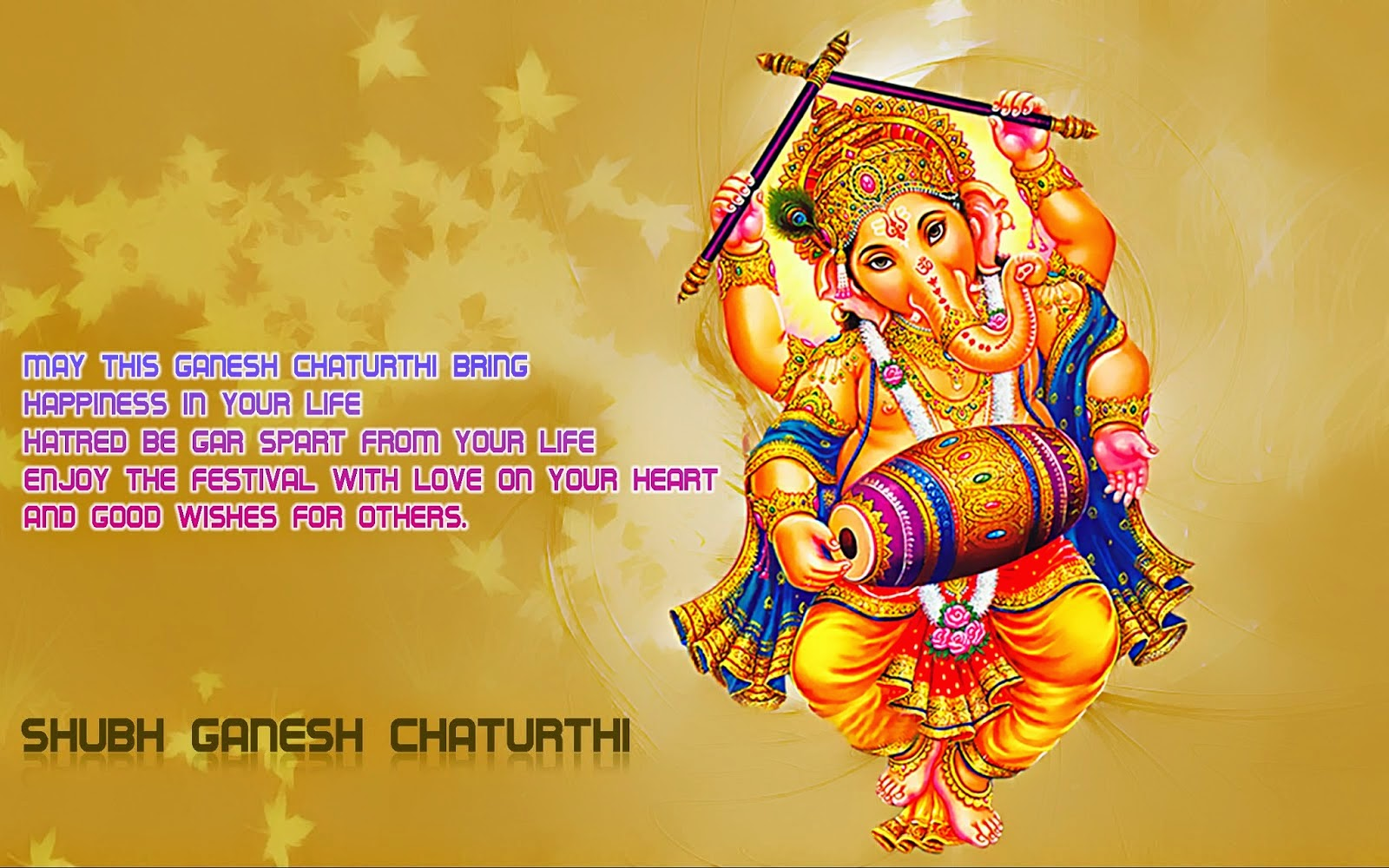 Subh ganesh chaturthi SMS Wallpaper