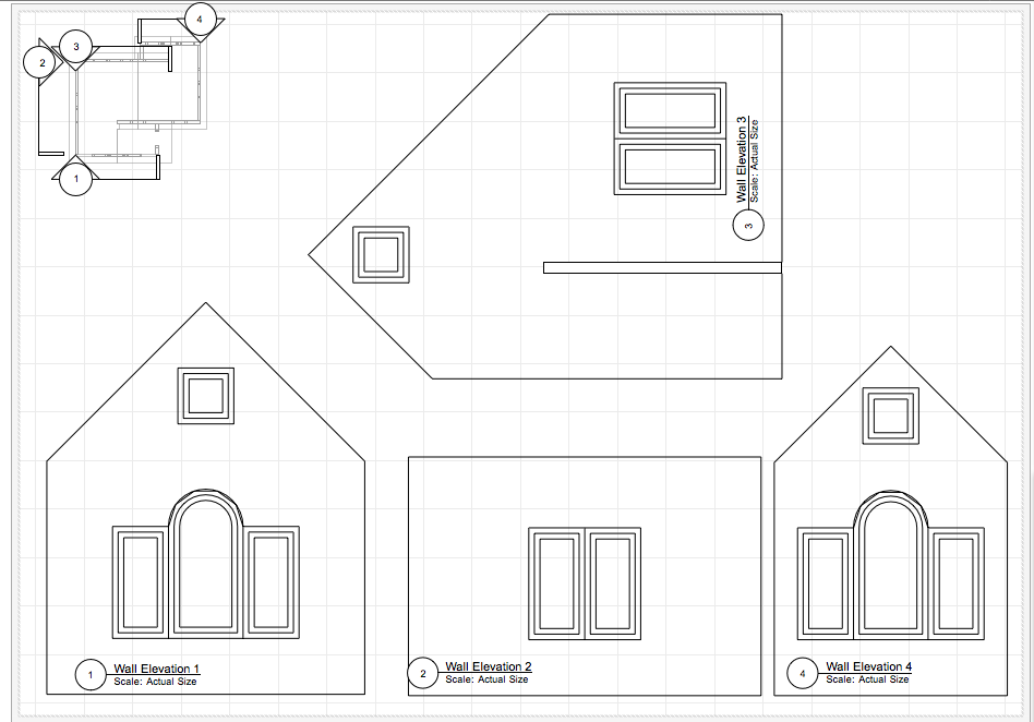 Design Your Own Gingerb House Worksheet  Design Your Own HomeUse viewports to get the plans and elevations