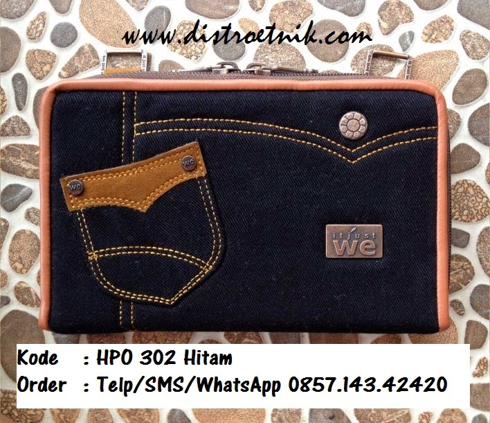 dompet hpo jeans it just we hpo 302 hitam