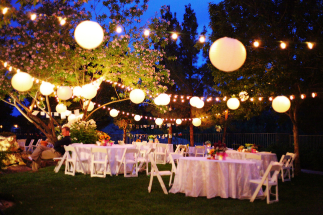 Wedding Reception In Backyard : If you enjoy this wedding, please help sharing the word by tweeting it