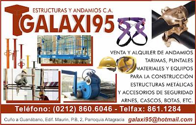ESTRUCTURAS Y ANDAMIOS GALAXI 95, C.A. en Paginas Amarillas tu guia Comercial