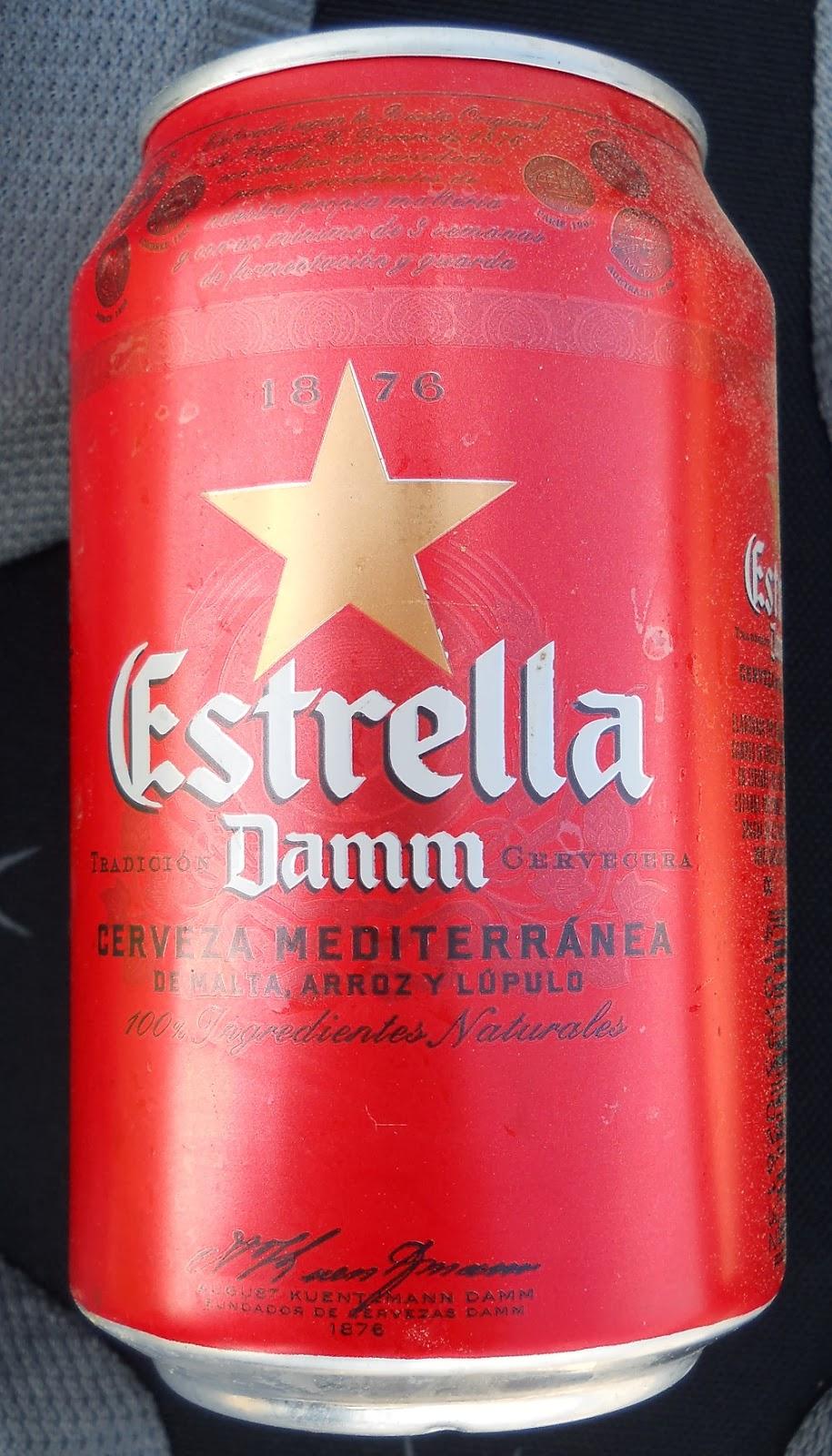 lata de cerveza estrella