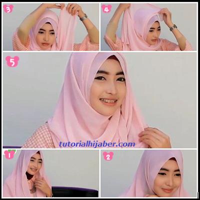 Tutorial Hijab Untuk Wajah Bulat Terbaik 2015