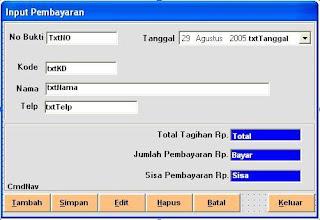 form+pembayaran+ +sistem+informasi+penjualan - Form Pembayaran - Sistem Info Penjualan (Vb6)