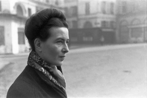 Simone de Beauvoir by Henri Cartier-Bresson, Paris, 1945