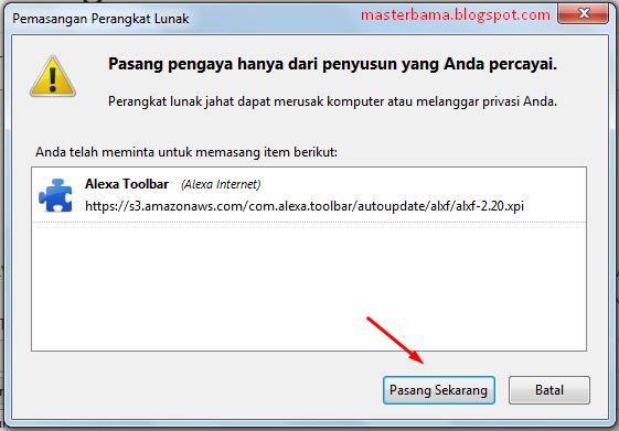 Cara Memasang Alexa Toolbar Pada Browser Mozilla Firefox