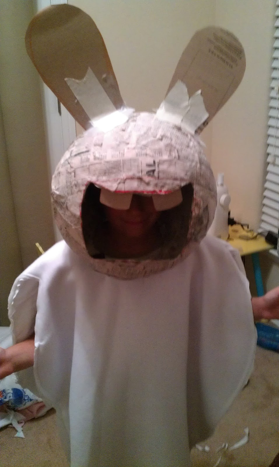 the boychilds raving rabbid costume - Raving Rabbids Halloween Costume