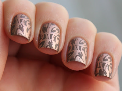Nail Art Stamping Essie Penny Talk Catrice Lost In Mud