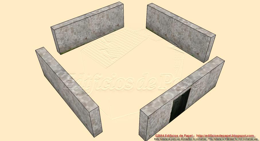 Construye tu fortificación de papel combinando torres y muros