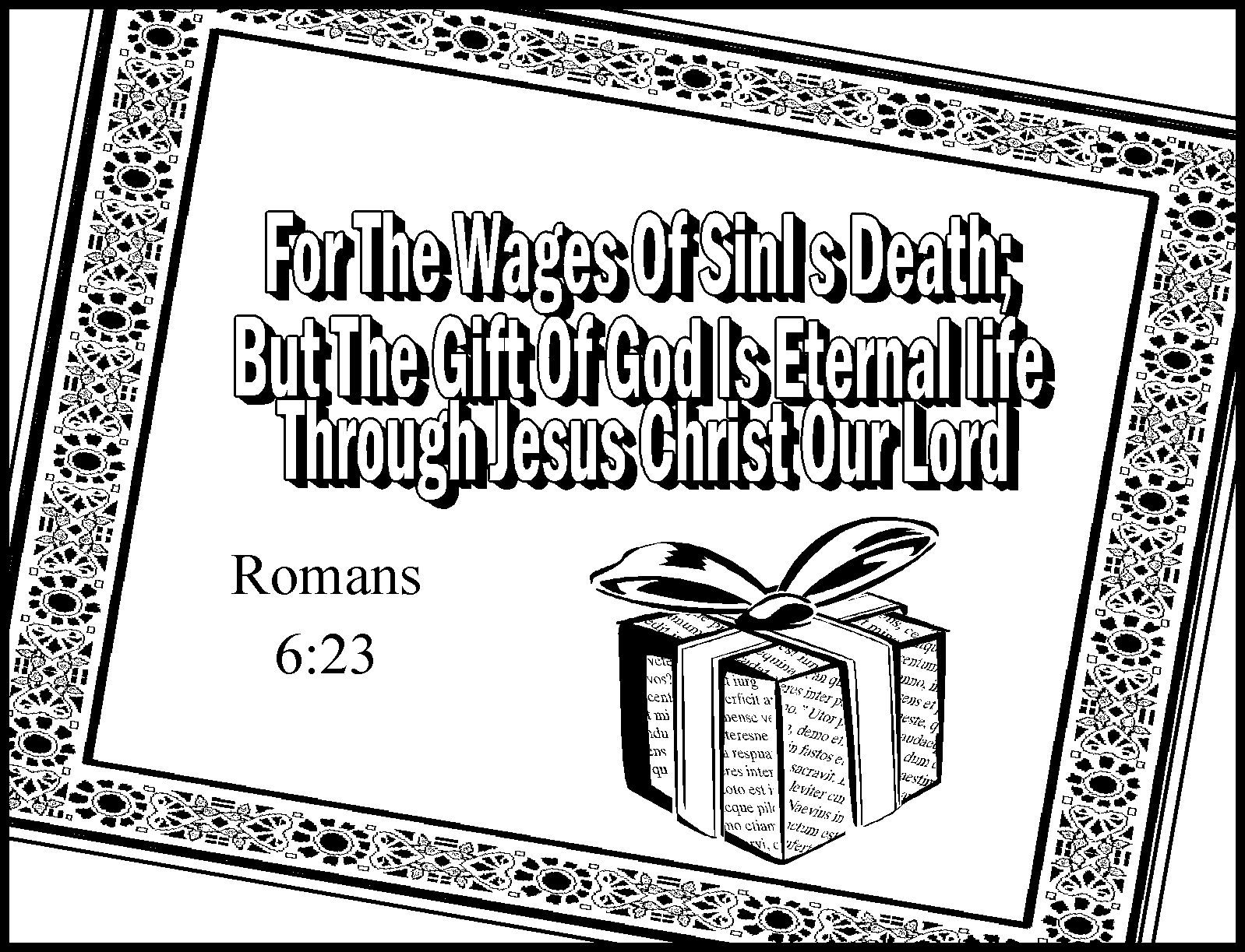 Coloring pages for preschoolers on salavation - Romans Road Coloring Sheets