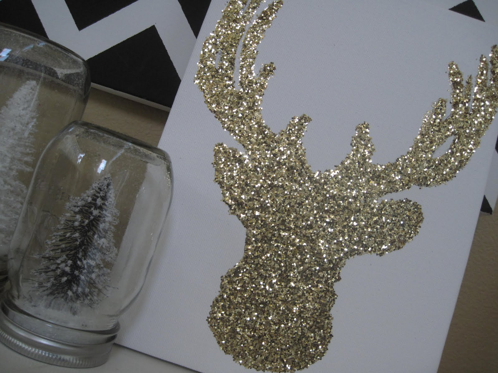Daisy dreaming glitter reindeer for Arts and crafts glitter