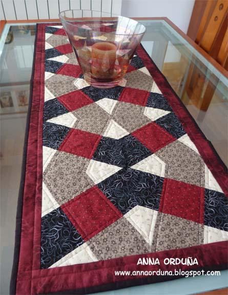Anna ordu a mi rinc n de patchwork camino de mesa x blocks - Como hacer una vidriera ...