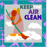 'keep the air clean' cartoon