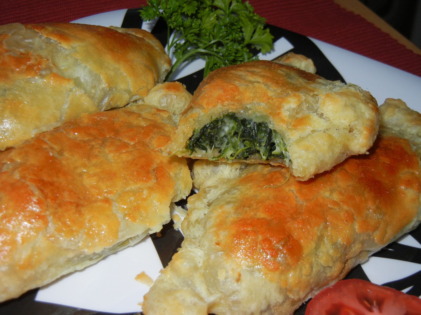 Easy Garlic Spinach Cheese Empanadas - Will Cook For Smiles