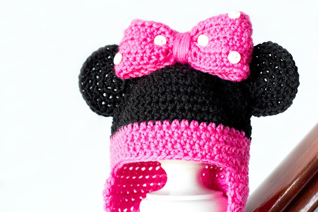 Green Mama: Crochet Minnie Mouse Hat