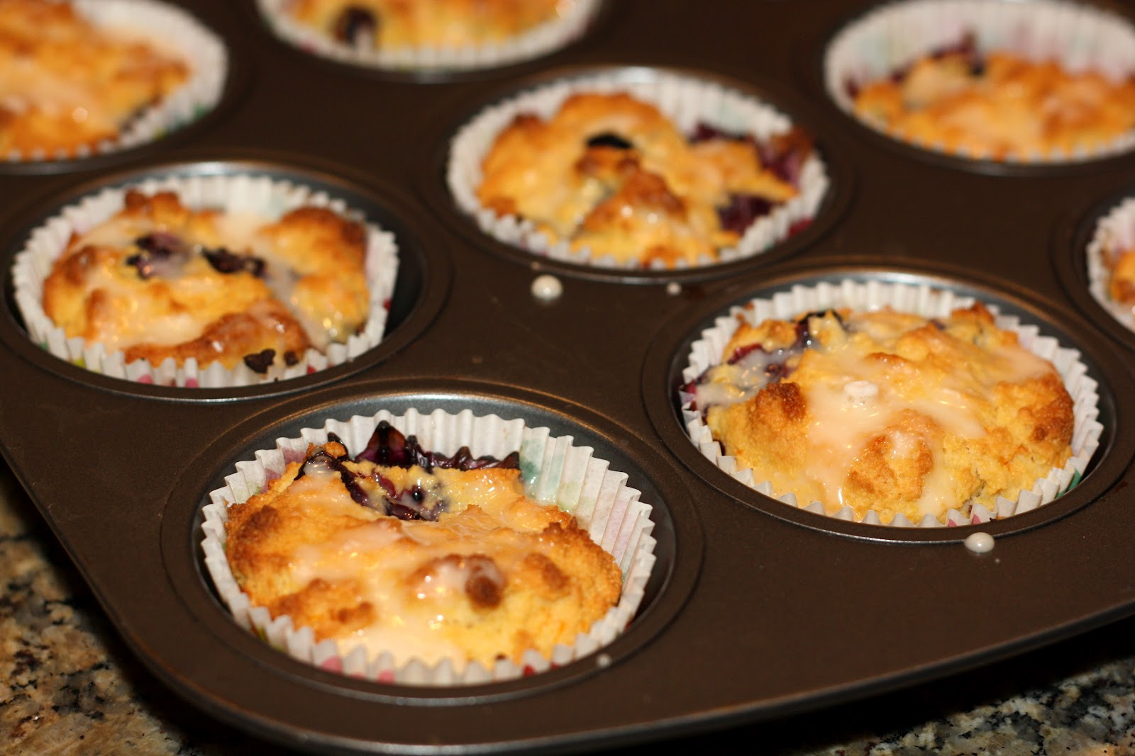 sunday sweets: blueberry-orange cornmeal muffins