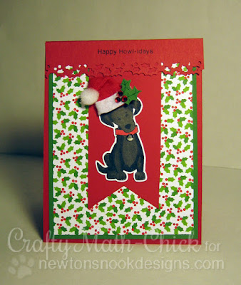 Christmas Labrador card by Crafty Math Chick | Fetching Friendship by Newton's Nook Designs