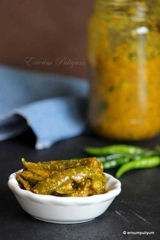 how to make green chilli pickle indian style