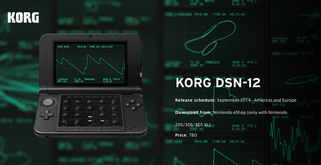 Matrixsynth new korg dsn 12 for nintendo 3ds featuring 12 it looks like we have a new korg synth coming for the nintendo 3ds release is set for september 2014 in the americas and europe price is currently tbd ccuart Images