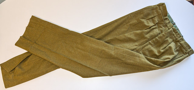 pair of australian army battledress trousers sitting on a table