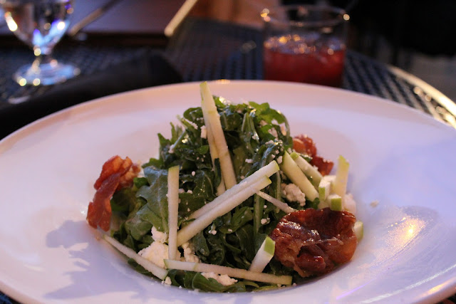 Arugula and goat cheese salad at The Brahmin, Boston, Mass.