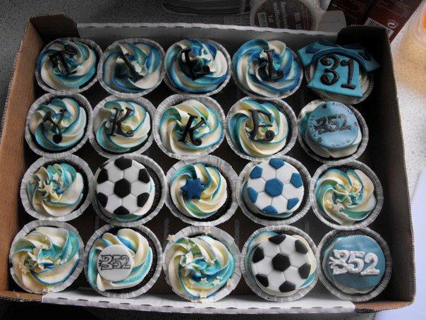 fodbold muffins