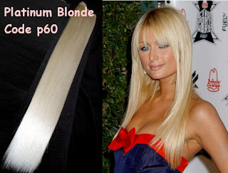 hair extensions in platinum blonde