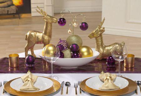 decoracao mesa natal roxo dourado imagens Enfeites e objetos para decoração de Natal