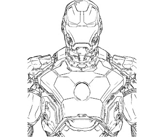#8 Iron Man Coloring Page
