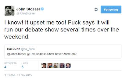 John Stossel Twitter fuck autocorrect