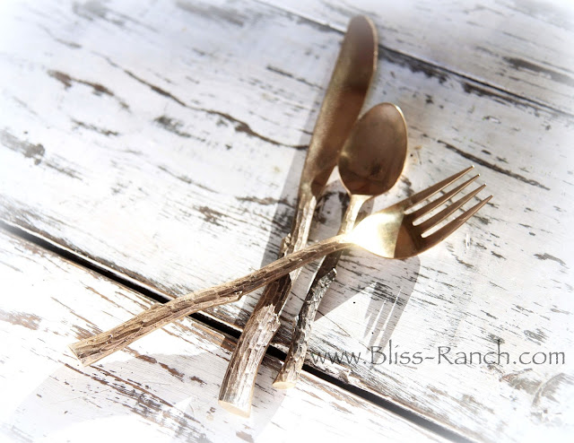 Brass Twig Flatware www.Bliss-ranch.com