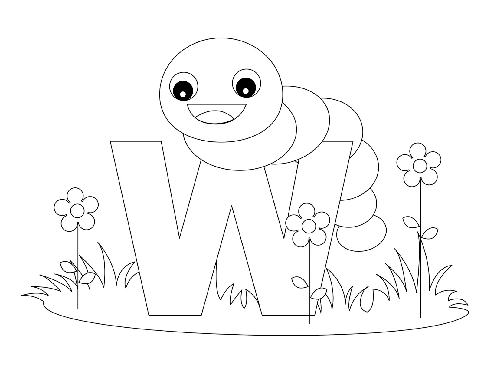 Free coloring pages alphabet letters for Alphabet pages to color