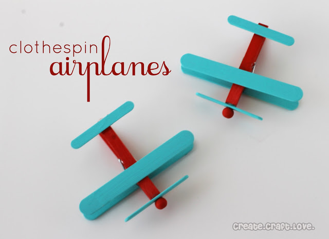 popsicle stick airplane party craft