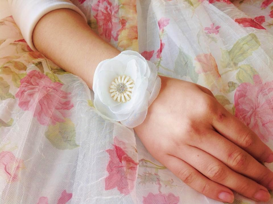 pulseira para noiva com margarida