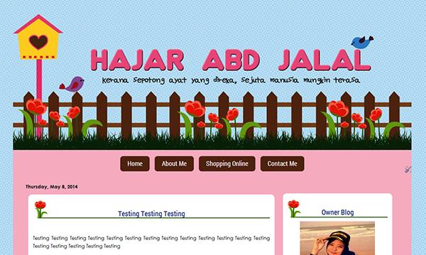 Tempahan edit blog - Hajar Abd Jalal
