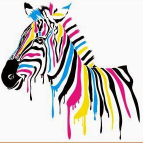 зебра цветная