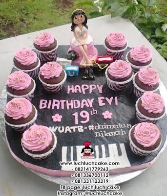 Birthday Cupcake Piano Daerah Surabaya - Sidoarjo