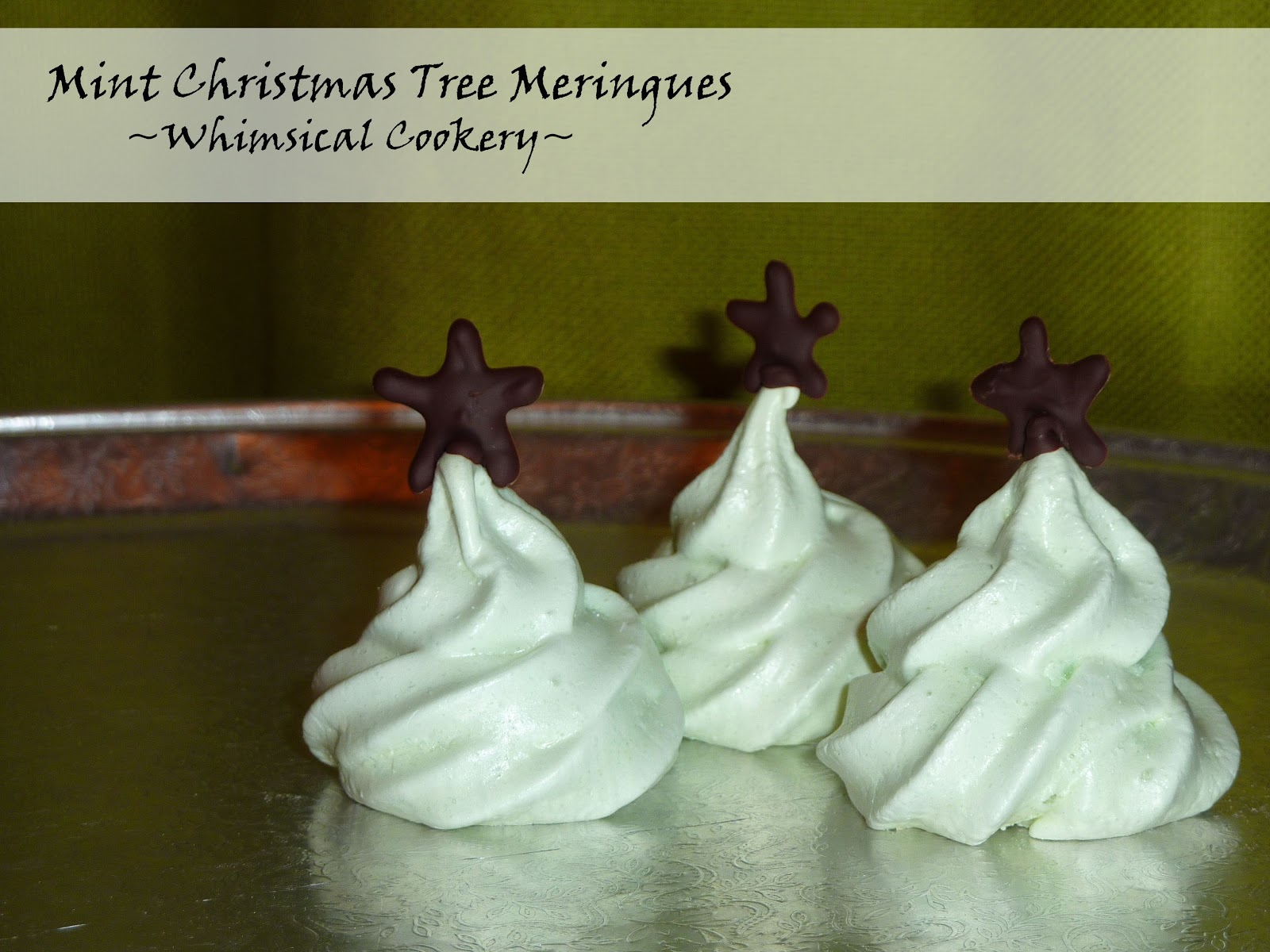 http://whimsicalcookery.blogspot.co.uk/2013/12/mint-christmas-tree-meringues.html