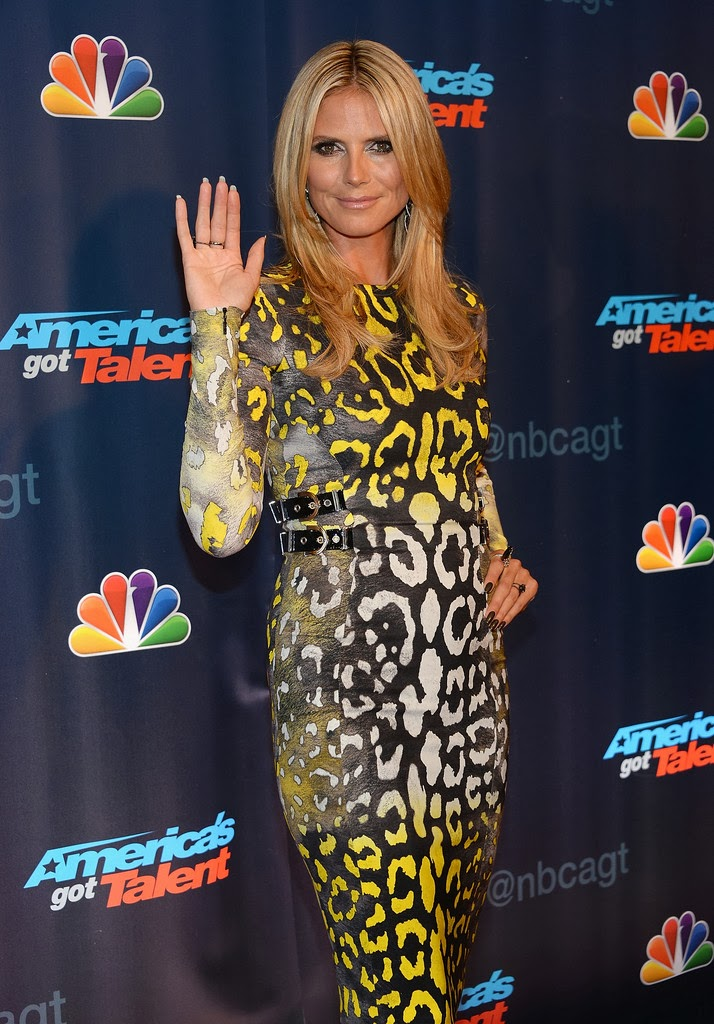 Heidi Klum Heidi Klum Attends Americas Got Talent