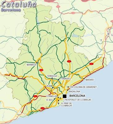 Barcelona Mapa Ciudad de la Región