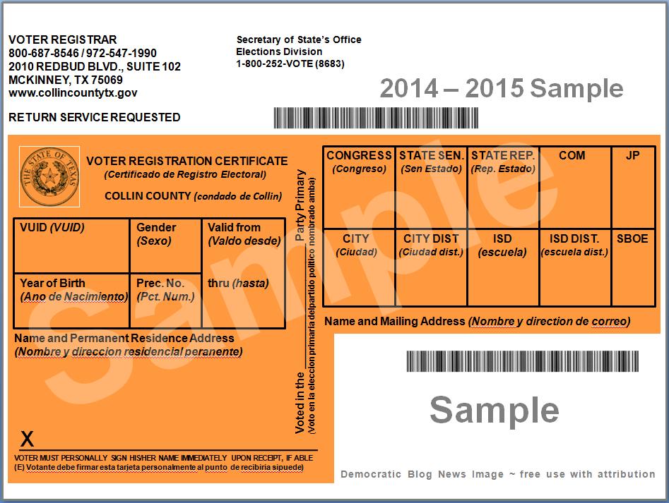 Democratic Blog News Voter Registration And I D Requirements