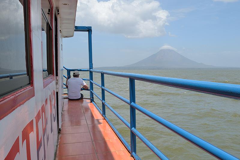 Sur le bateau en direction de l'île d'Ometepe