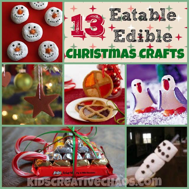 Kids creative chaos 13 easy eatable edible christmas for Edible christmas crafts for kids
