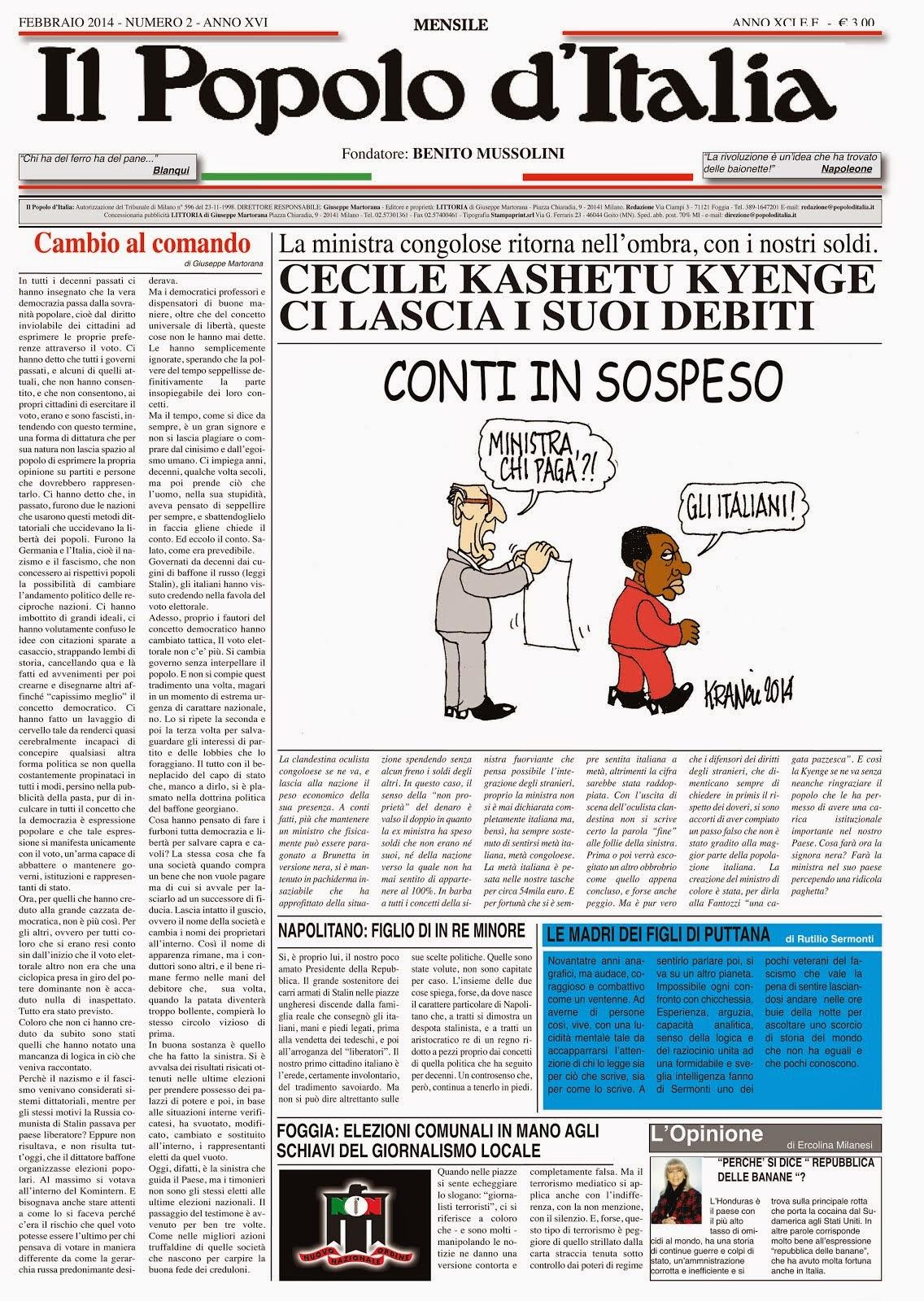 Il Popolo d'Italia Febbraio 2014