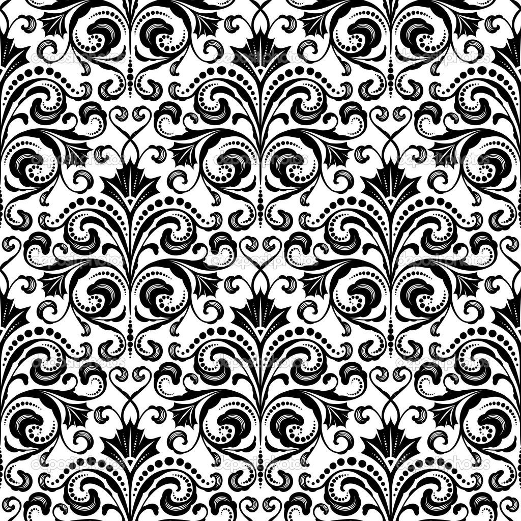 Black Floral Pattern Tumblr The Image