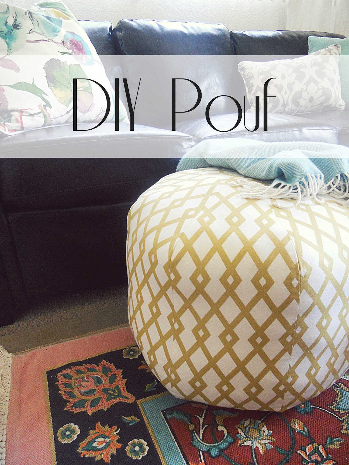 sl designs diy floor pouf. Black Bedroom Furniture Sets. Home Design Ideas