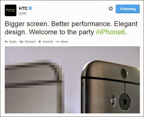 HTC ONE M8 - IPHONE 6